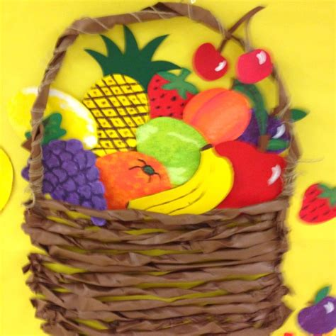 fruit bulletin board idea 171 funnycrafts fruit basket made by twisting paper looks awesome