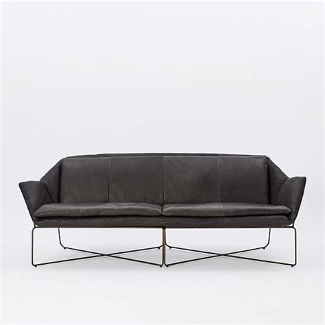 Origami Sofa - origami leather sofa west elm