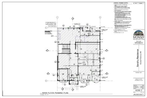 floor framing plan monsef donogh design group12004 lot 8 sheet a200 2