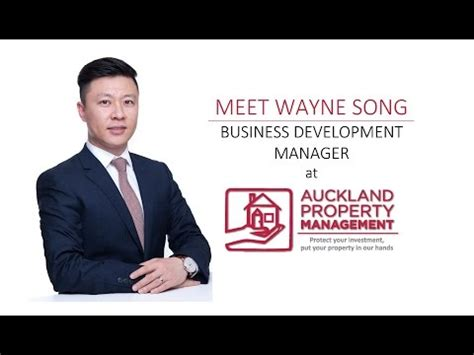 Property Manager Auckland Wayne Song Business Development Manager At Auckland