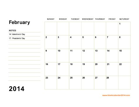 printable monthly calendar may 2014 7 best images of printable monthly calendar february 2014
