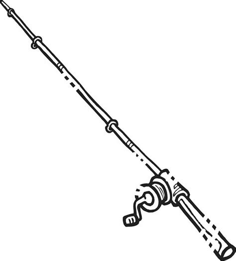 coloring page of fishing pole free coloring pages of drawings of fishing rod