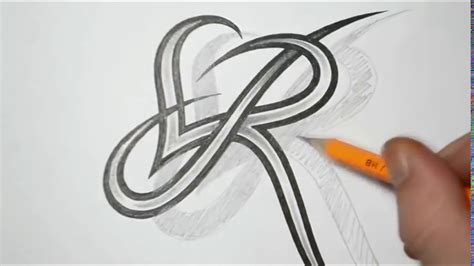 tattoo design letter r letter r and heart combined tattoo design ideas for