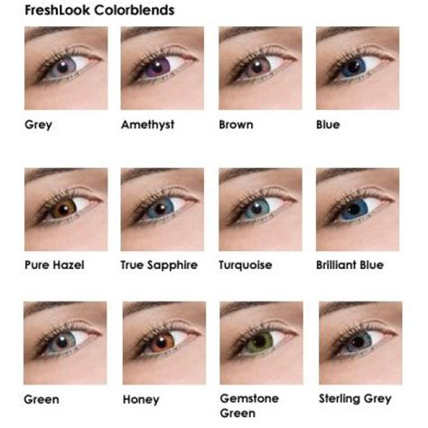 fresh look colored contacts buy freshlook colorblends plano non prescription