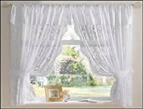 Curtains With Pelmet Attached White Andrea Net Curtain Set 150 Quot X 48 Quot Jacquard Lace Including Tie Backs And Attached Pelmet