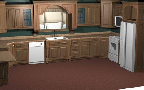 kitchen design with turbocad cad for cabinet layouts