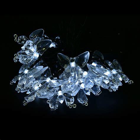 4 8m 20 Led Butterfly Solar Fairy String Lights Waterproof Butterfly Lights String