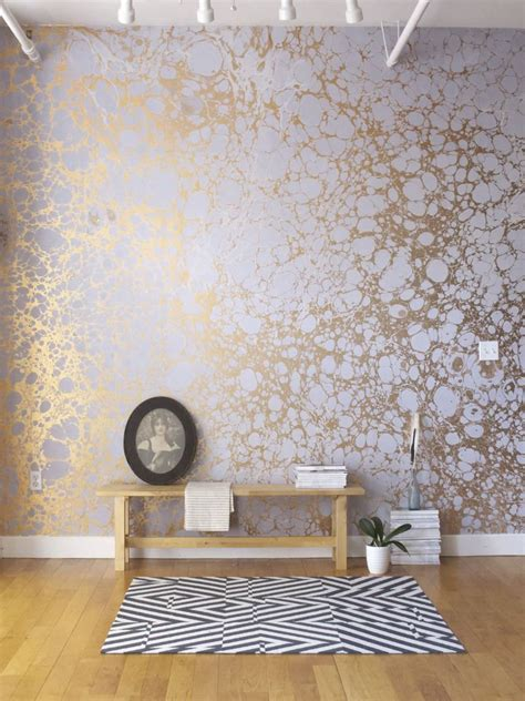 Handmade Wallpaper - handmade patterned wallpaper lunaris i fog calico