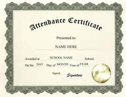 Attendance Certificates Free Templates by Free Templates For High School Certificate Templates