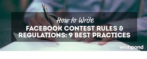Giveaway Facebook Rules - how to write facebook contest rules regulations 9 best practices