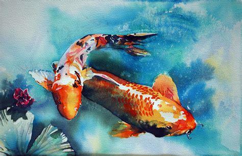 koi fish watercolor paintings koi fish watercolor paintings quot mystical waters