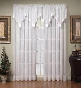 Silhouette stripe sheer curtain panel curtain amp bath outlet