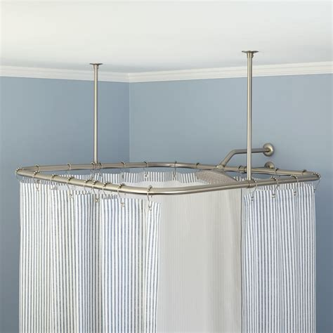 shower curtain rail with ceiling support shower curtain rail ceiling support scandlecandle com