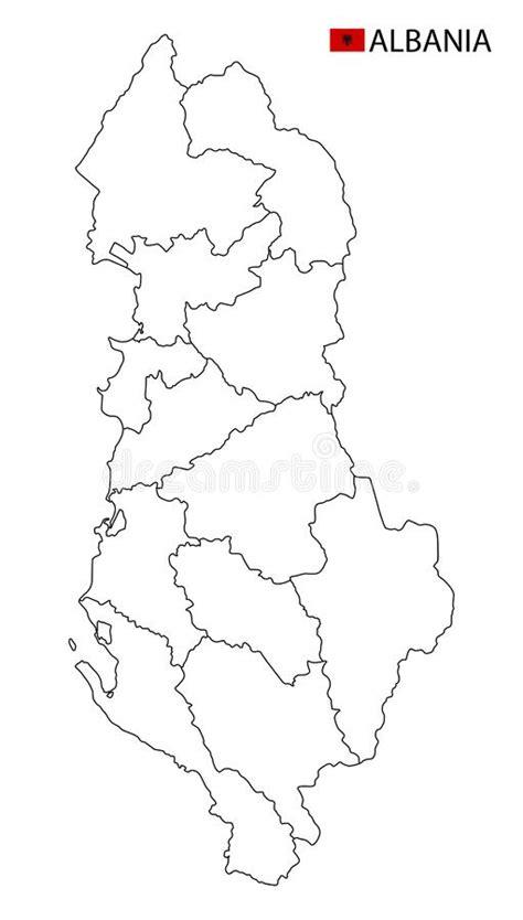 Black map of Albania stock vector. Illustration of