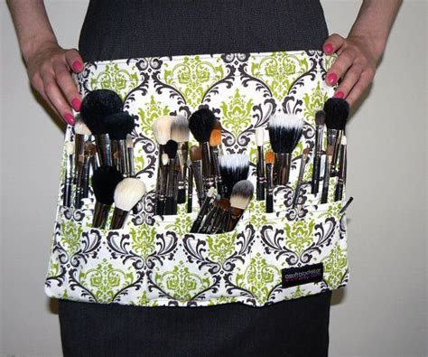 brush belt pattern custom makeup artist brush belt damask zebra by