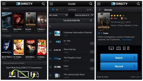 directv app for android tablet directv app images