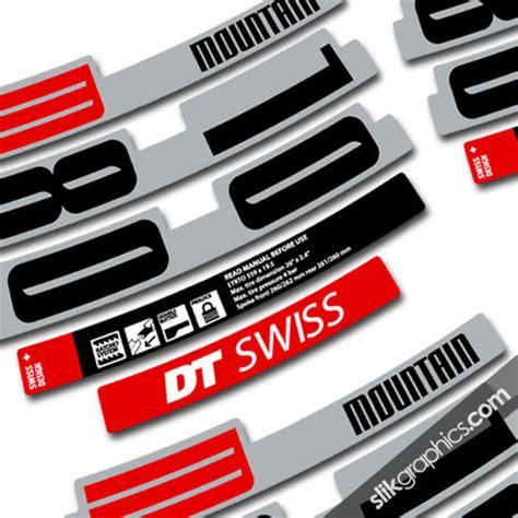 Felgenaufkleber Dt Swiss by Decals Collection Slik Graphics