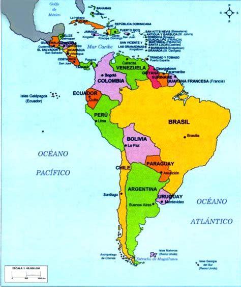 mapa america con division politica mapa de america sur con division politica imagui