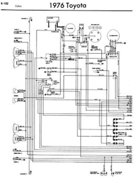 toyota celica a20 1976 wiring diagrams manual