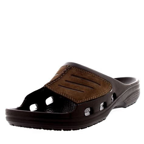 mens comfort sandals mens crocs yukon mesa slide summer comfort mules holiday