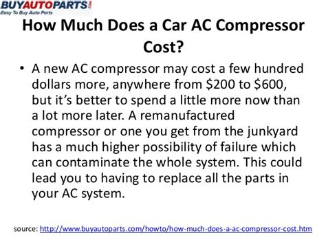 How Much Does It Cost To Replace An Ac Compressor Autos Post How Much Does It Cost To Replace An Exterior Door