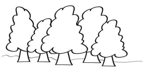 imagenes para colorear bosque un bosque para dibujar imagui