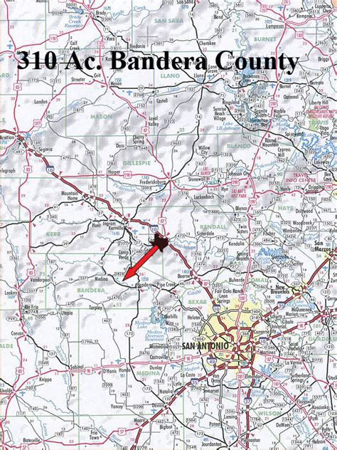 where is bandera texas on map texas ranch for sale 310 acres ranch real estate in bandera county