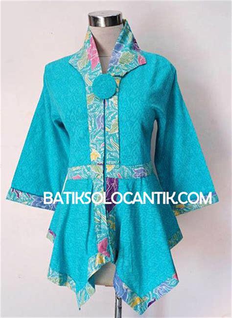 Celana Batik Wanita Modern 120 Iu baju kerja wanita modern model batik emboss tosca baju kerja batik