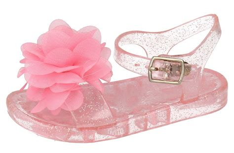 Flat Shoes Pink Bunga Flowers Jelly Flat Shoes Fse022 toddlers jelly sandals flower flat gladiator jellies