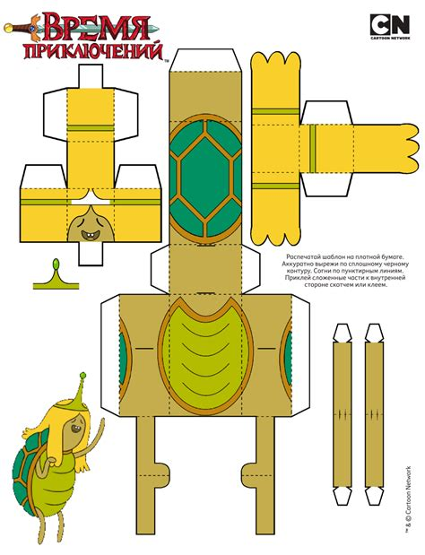 Adventure Time Paper Craft - paper toys molde and adventure time on