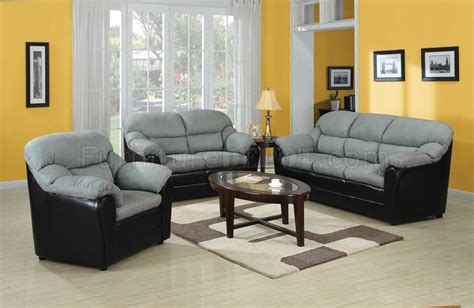 black and gray couch connell sofa in gray microfiber black bycast by acme