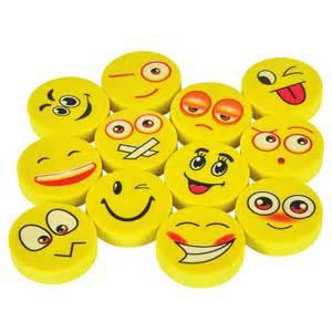 Home school supplies pencil accessories erasers emoji eraser