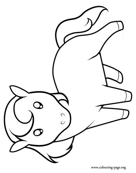 Coloring Pages Of Baby Horses baby and free coloring pages