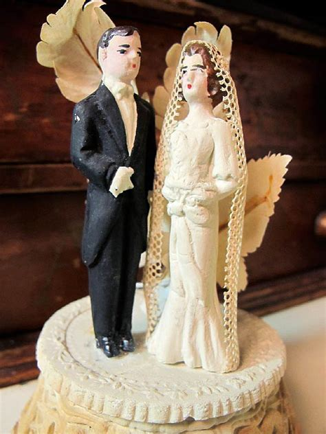 Wedding Cake Figures With Style by Vintage Style Wedding Cake Toppers