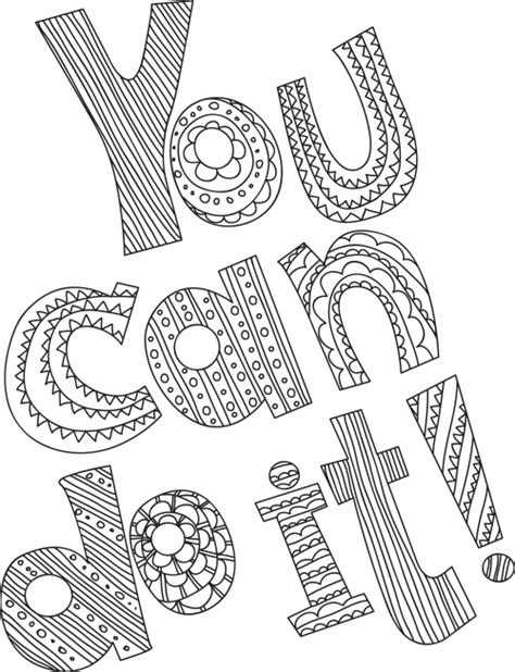 stress relief coloring pages easy you can do it stress relief teen and printing