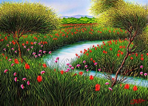 spring landscaping spring landscape painting by daurea giovanni