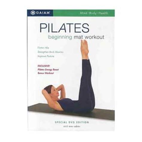 gaiam pilates beginning mat workout dvd with caban