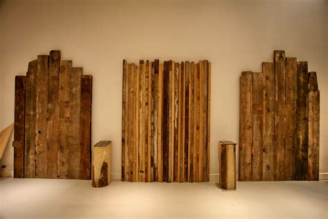 reclaimed wood headboards wood plank headboard