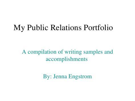Relations Portfolio Template Pr Portfolio