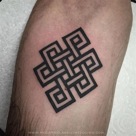 endless knot tattoo designs attractive endless knot on forearm