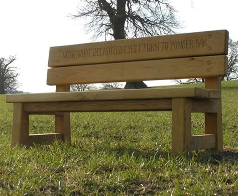 chris bench natural fsc green oak double back bench chris nangle