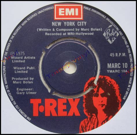 Records New York City Totally Vinyl Records T Rex New York City Chrome Sitar 7 Inch