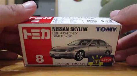 tomica diecast mini cars no 8 nissan skyline 2001