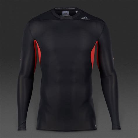 Baselayer Adidas big discount adidas techfit recovery ls mens base layer shirts black womens clothing