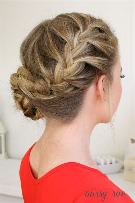 braid hairstyles on pinterest 138 pins waterfall dutch french braid into braided bun hair