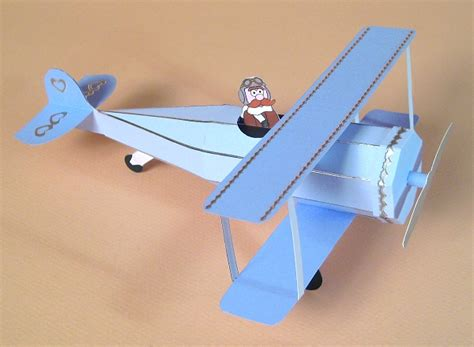 a4 card templates for 3d opening biplane display