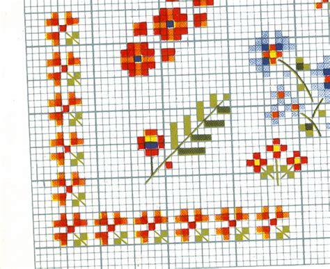 punto croce schemi fiori schemi fiori 059 schema da ricamare a puntocroce