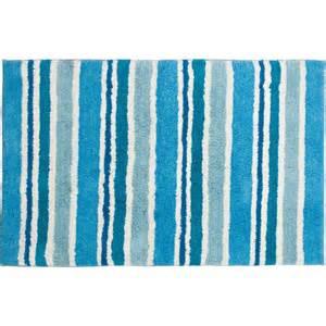 blue striped bath mat stripe bath mat blue