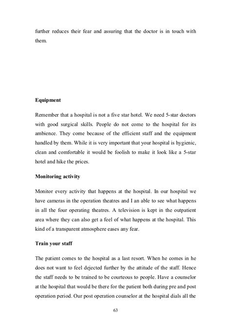 Letter For Business Tie Up Management Practices At Hospitals India
