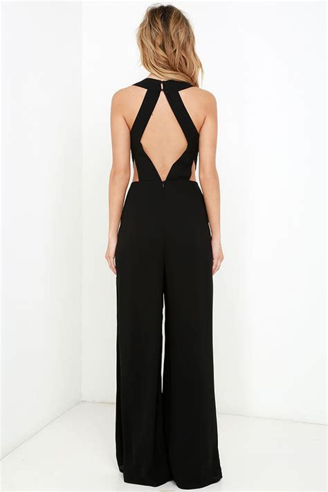 Backless Jumpsuit Size L chic black jumpsuit sleeveless jumpsuit backless